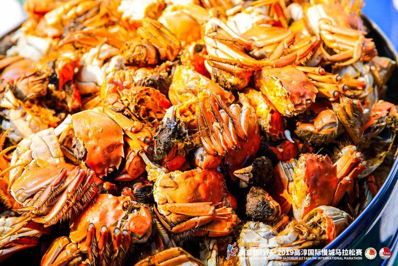 高淳马拉松大闸蟹美食